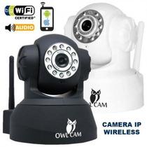 Câmera Ip Wireless Owl Cam Pan Tilt Zoom Preta