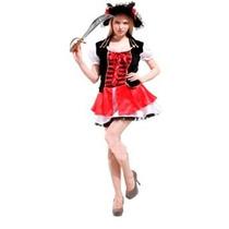 Fantasia Feminina Pirata Luxo - Tamanho Único