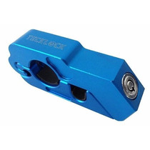 Trava Manete Manopla Acelerador Antifurto Tecklock Azul