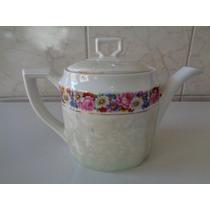 Belo Bule Para Chá Em Porcelana - Sem Uso