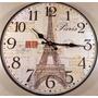 Relogio De Parede Cozinha Churrasqueira Vintage Paris -11043