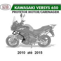 Protetor Motor Carenagem +pedaleira Kawasaki Versys 650 Scam