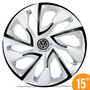 Jg Calota Esportiva 15 Ds4 White Black Fox Polo Golf 5 Furos