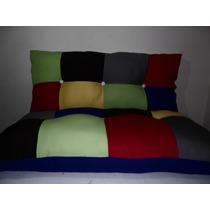 Sofá-cama Futon Para Banco De Madeira,pallets, Em Patchwork