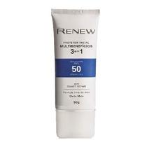 Renew Protetor Facial 3 Em 1 Fps 50-enviamos No Mesmo Dia
