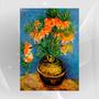 Poster 70x50 Gravura P/ Quadro Fritiliarias Em Vaso Van Gogh