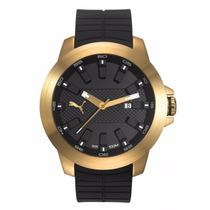 Relógio Puma Masculino Dourado Original Pu103901004