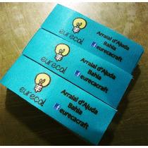 200 Etiquetas De Tecido Personalizadas 4x1.5 Cm