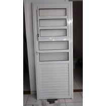 Porta Basc Branca 5 Vidros 2.10x80 Em Santo André