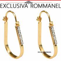 Rommanel Brinco Argola Oval Folheado Ouro 18k 520004