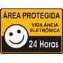 Placa Sinalização Area Protegida 24h