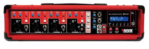 Mixer Amplificado 4 Canais Novik Neo Nvk 4300 Bt