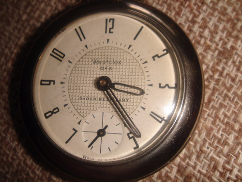 8992958c7f8 Relógio Westclox Dax U.s.a Antigo Bolso Corda Manual
