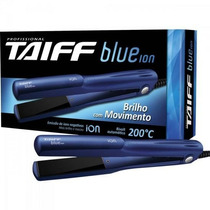 Chapinha Prancha Alisadora De Cerâmica Blue Íon Azul Taiff