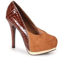 Sapato Scarpin Feminino Vizzano - Caramelo