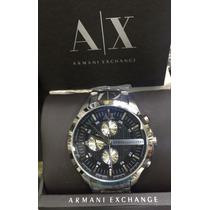 Relogio Armani Exchange Preto Caixa Manual 12x Sem Juros