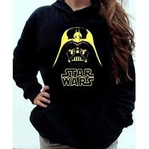 Blusa Moletom Star Wars Feminina Canguru Com Capuz