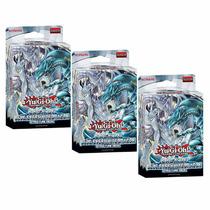 3x Decks Saga Do Dragao Branco De Olhos Azuis Yugioh Blue-ey