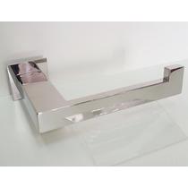 02- Suporte Papel Parede Quadrada 20x10 Inox - Perfil Quadra