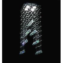 Lustre Plafon Cristal Escada 27x70 Sala Qu004/30 Esc Dna