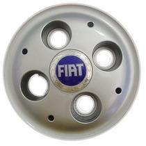 Calota P/ Centro Miolo Roda De Ferro Linha Fiat C/ Emblema!