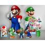 Super Mario Bross Kit Toten Display Decoração Festa Mdf
