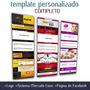 produto Template Personalizado Html Completo Logo Facebook Hospedage