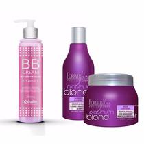 T9 Bb Cream + Shampoo + Máscara Cabelo Loiro - Forever Liss