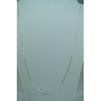 Corrente Cadeado Masculina 60cm Prata 925