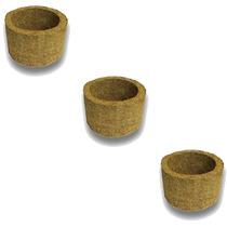 3 Vasos Xaxim De Palmeira T2 Para Orquídeas E Samambaias