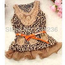 Vestido Meninas Leopardo (frete Grátis)