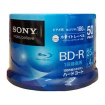 50 Mídias Sony Blu-ray 25gb 4x Printable Pino Lacrado Bd-r