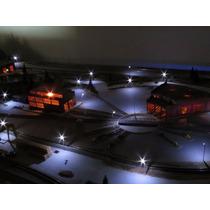 Kit Iluminação Para Maquetes - 10 Postes De 7cm + Acessórios