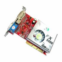 Placa De Video Agp Nvidia Fx5500 256 Mb