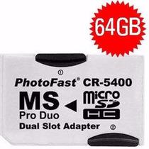 Psp - Adaptador Memory Stick Pro Duo + 1 Cartão Memória 16gb