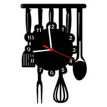 Relógio De Parede Decorativo Cozinha Com 28 Cm (11559)