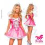 Fantasia Barbie Luxo - Grátis Coroa Promoção