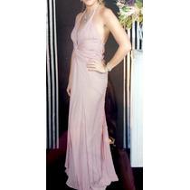 Lindo Vestido De Festa Rosa Nude Tamanho 40 Com Bordado