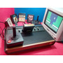 Atari 2600 Frente De Madeira,2 Controle+5 Brindes