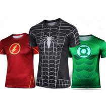 Camisa/camiseta Herois Marvel E Dc Capitão/ Flash Importada