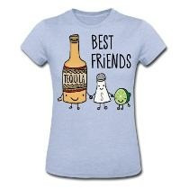 Camiseta Baby Look Best Friend ( Tequila)
