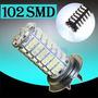 Lampada Led H7 102 Leds 6000k Tipo Xenon Super Branca