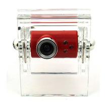 Webcam Com Suporte De Acrílico E Microfone