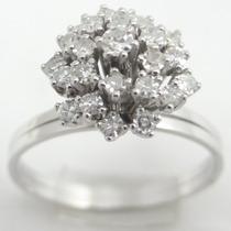 Feliz Jóias - Anel Chuveiro De Ouro Branco 18k C Diamantes