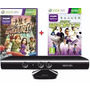 Kinect Sensor Original Xbox 360 + 2 Jogos Originais