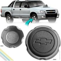 Calota Centro De Roda S10 Preta Emblema Chevrolet