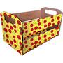 Caixote Frutas - 33x19x18,5cm - Mod. 5 Cerejas - Cia Laser