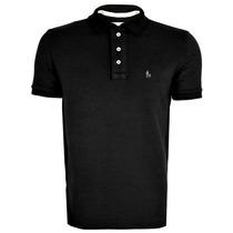 Camisa Camiseta Polo Preta Original Sf Tipo Importadas