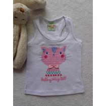 Blusinha Infantil Menina Regata Cotton Have Fun Hf0014