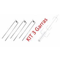 Kit 3x Garra Longa Para Espeto Giratório Em Inox Espetoflex